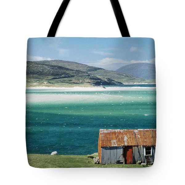 Hut On West Coast Of Isle Tote Bag by Rob Penn