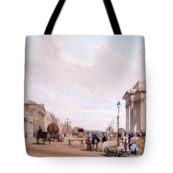 Hyde Park Corner, Looking Tote Bag by Thomas Shotter Boys