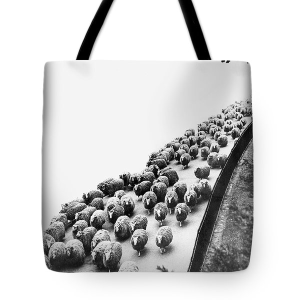 Hyde Park Sheep Flock Tote Bag by Underwood Archives