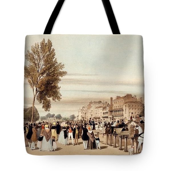 Hyde Park, Towards The Grosvenor Gate Tote Bag by Thomas Shotter Boys