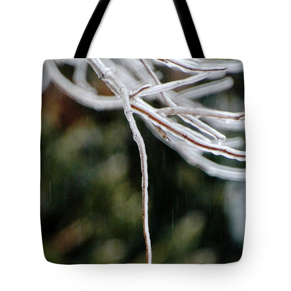 Hydrangea In The Rain Tote Bag by AdSpice Studios