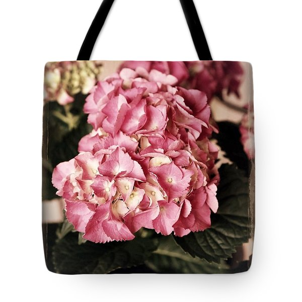 Hydrangea On The Veranda Tote Bag by Carol Groenen