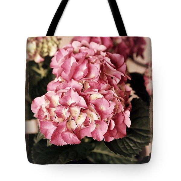 Hydrangea on the Veranda Tote Bag by Carol Groenen