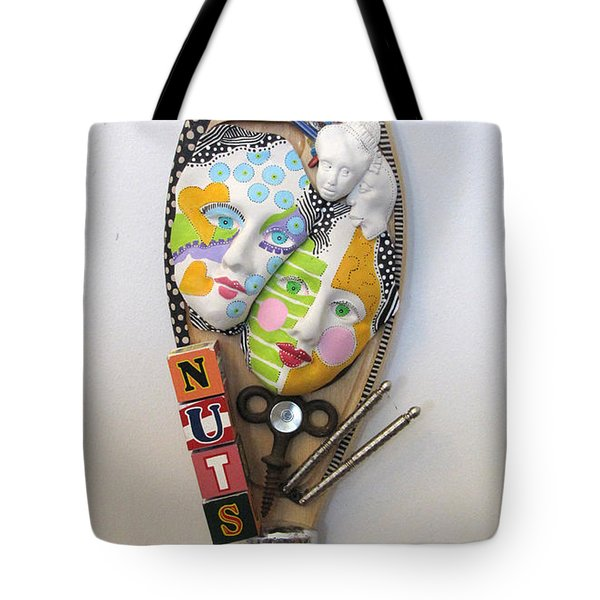 I Am A Shizophrenic And So Am I Tote Bag by Keri Joy Colestock