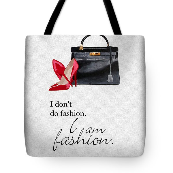 I Am Fashion Tote Bag by Rebecca Jenkins