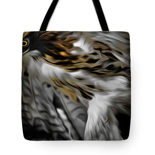 I am Redtail Tote Bag by Bill  Wakeley