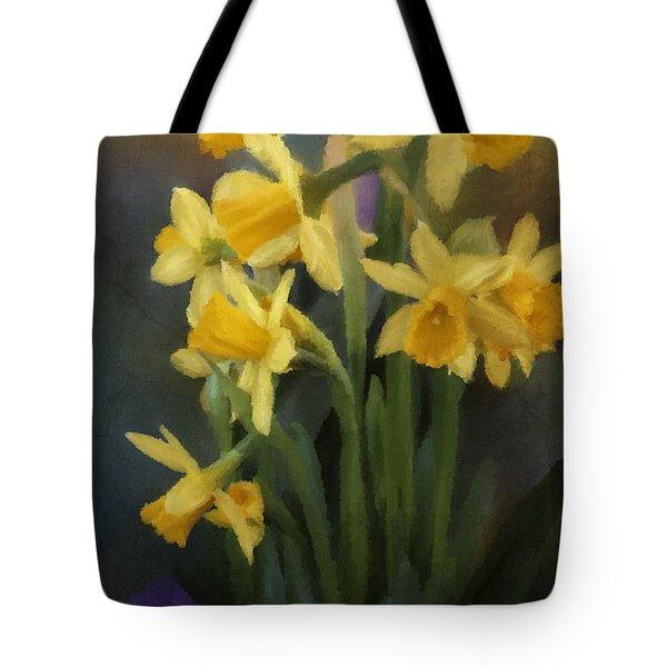 I Believe - Flower Art Tote Bag by Jordan Blackstone
