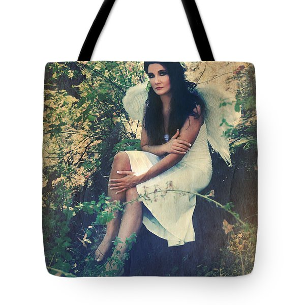 I Believe In Angels Tote Bag by Laurie Search