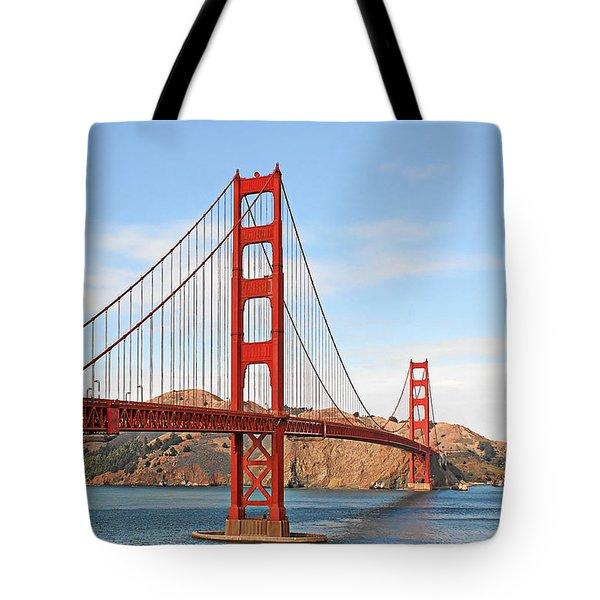 I guard the California shore - Golden Gate Bridge San Francisco CA Tote Bag by Christine Till