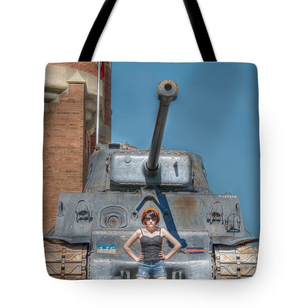 I Have A Tank.  Your Argument Is Invalid Tote Bag by Lisa Knechtel