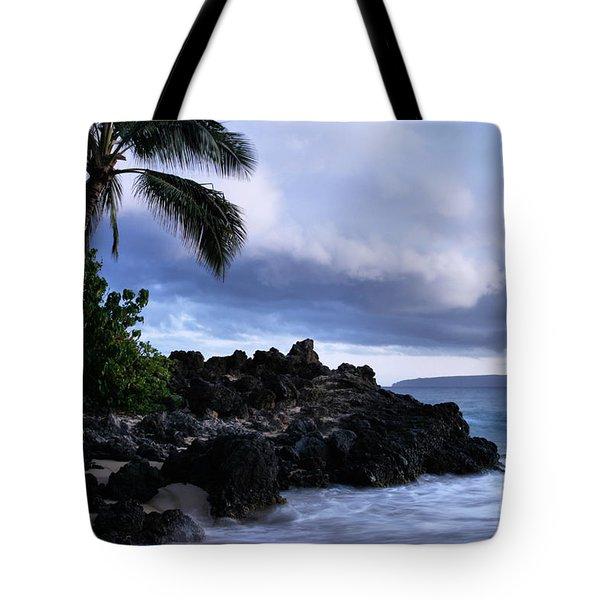 I Ke Kai Hawanawana Eia Kuu Lei Aloha - Paako Beach Maui Hawaii Tote Bag by Sharon Mau