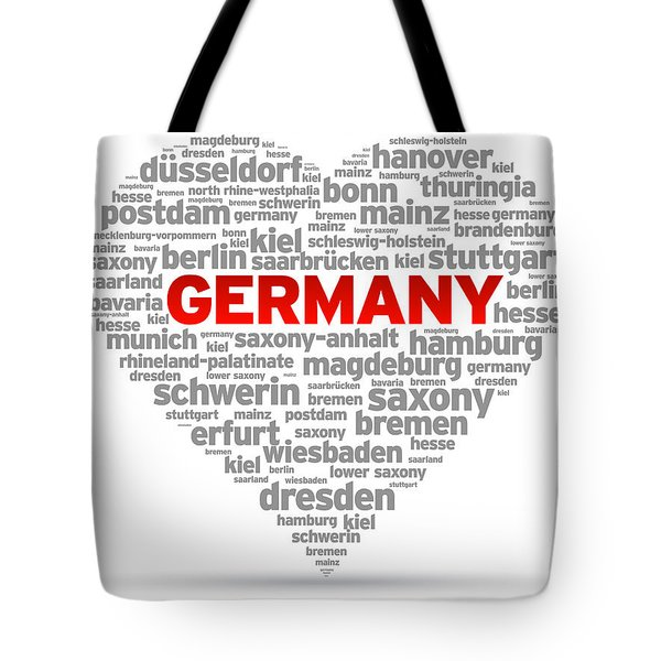 I Love Germany Tote Bag by Aged Pixel