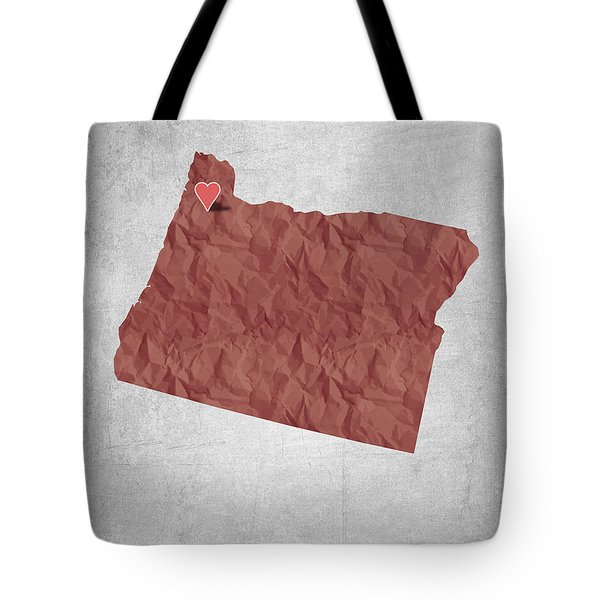 I Love Portland Oregon- Red Tote Bag by Aged Pixel
