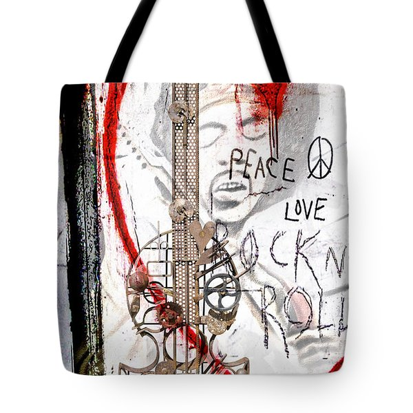 I Love Rocknroll Tote Bag by Joachim G Pinkawa