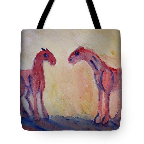 I Love You Too Tote Bag by Hilde Widerberg