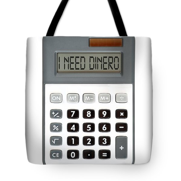 I need dinero Tote Bag by Michal Boubin