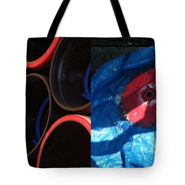 I saw a circular saw Tote Bag by Marlene Burns