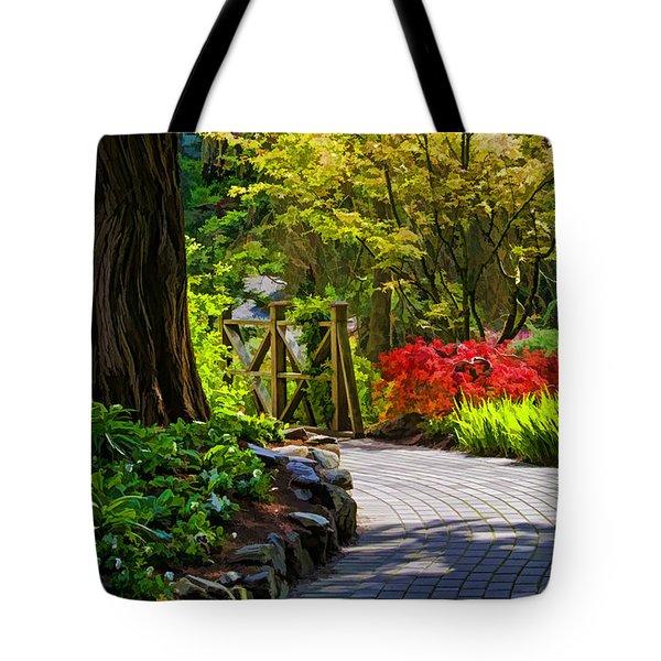 I Walk Through The Garden Alone Tote Bag by Jordan Blackstone