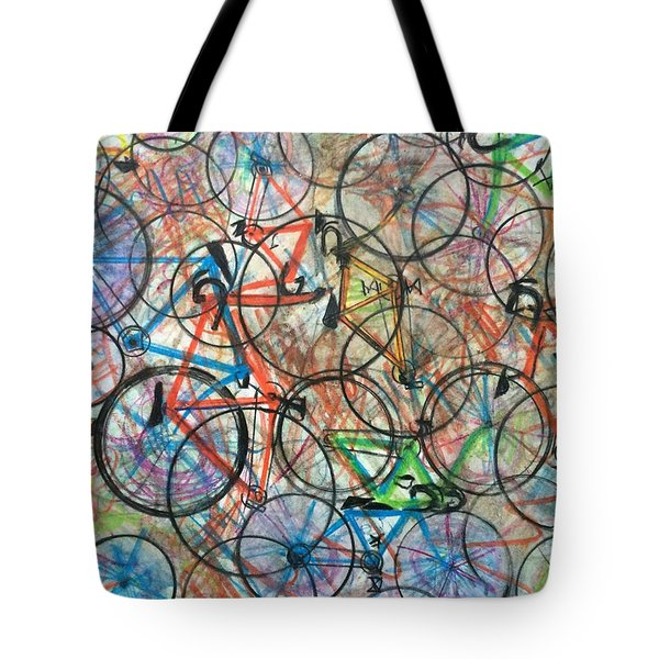 I Want To Ride My Bicycle Bicycle  Tote Bag by Scott French