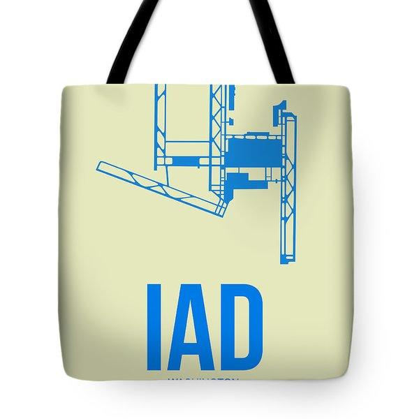 Iad Washington Airport Poster 1 Tote Bag by Naxart Studio