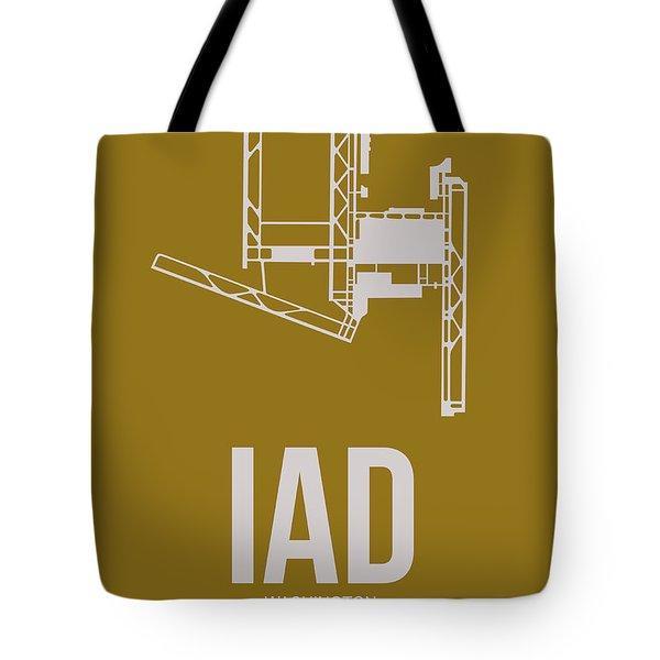 Iad Washington Airport Poster 3 Tote Bag by Naxart Studio