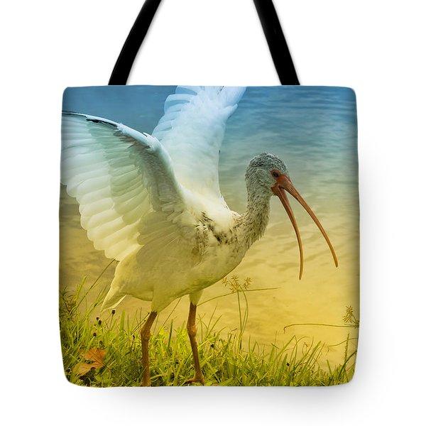 Ibis Talking Tote Bag by Deborah Benoit