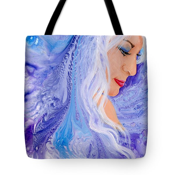 Ice Angel Tote Bag by Sherry Shipley