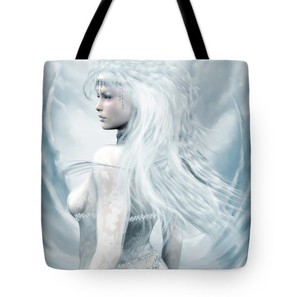 Ice Blue Tote Bag by Melissa Krauss