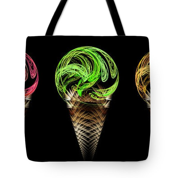 Ice Cream Cones 5 Flavors Tote Bag by Andee Design