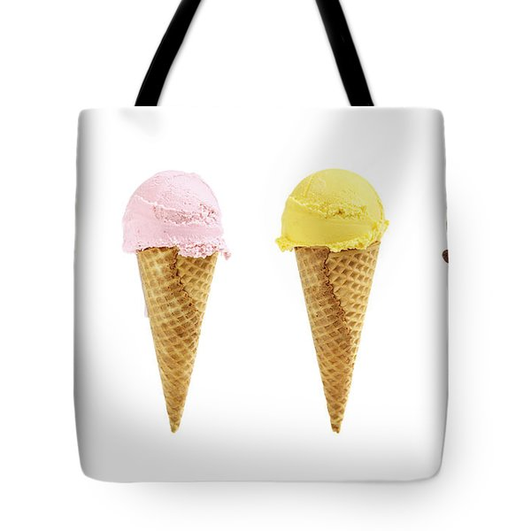 Ice cream in sugar cones Tote Bag by Elena Elisseeva