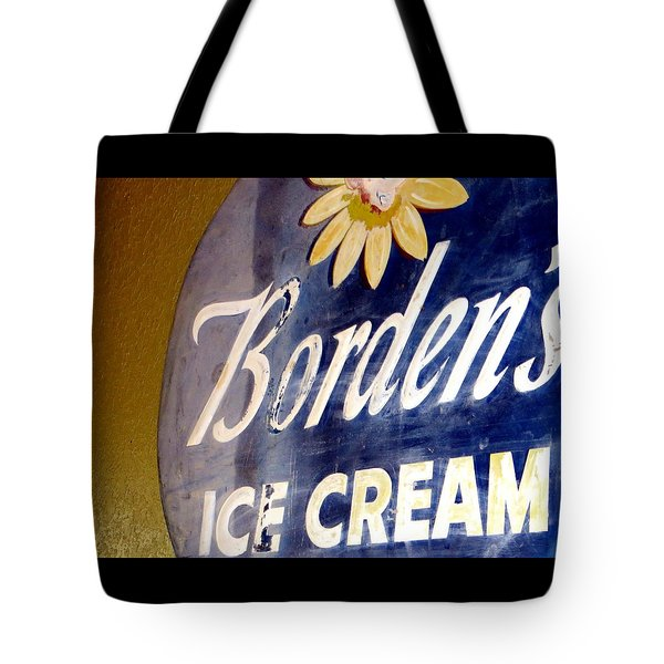 Ice Cream Sign Tote Bag by Dorothy Menera