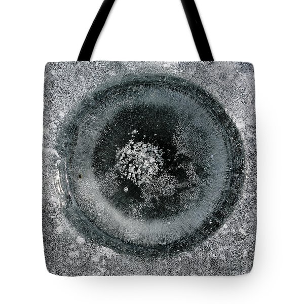 Ice Fishing Hole 9 Tote Bag by Steven Ralser