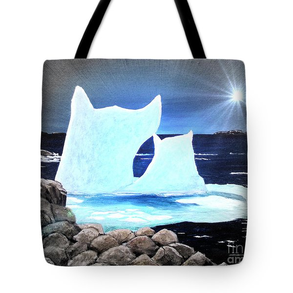 Icebergs at Sunset Tote Bag by Barbara Griffin