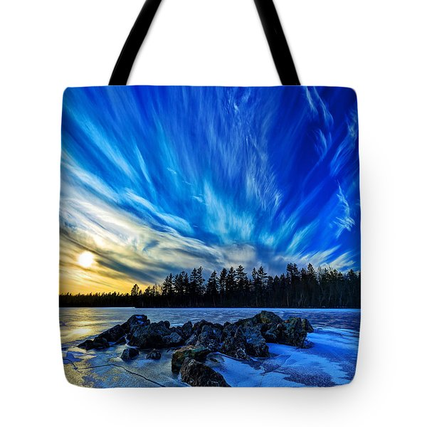 Icebound 3 Tote Bag by Bill Caldwell -        ABeautifulSky Photography