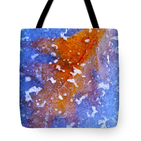 Icebound Leaf Tote Bag by Bill Caldwell -        ABeautifulSky Photography