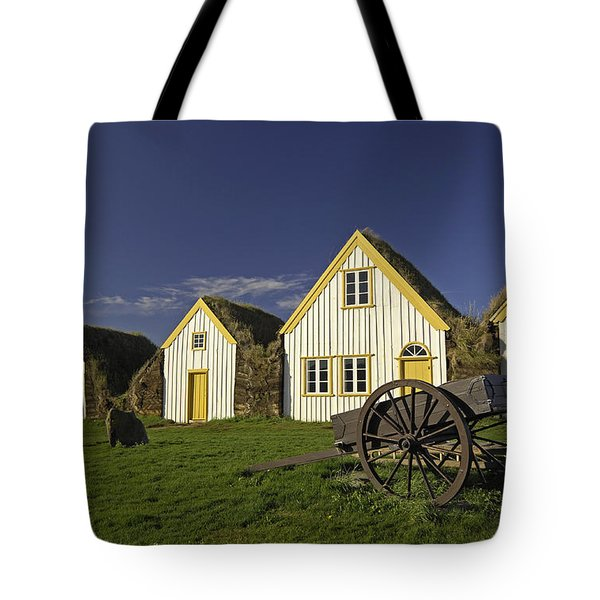 Icelandic Turf Houses Tote Bag by Claudio Bacinello
