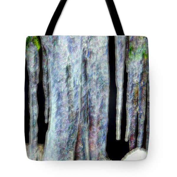 Icicles  Tote Bag by Daniel Janda