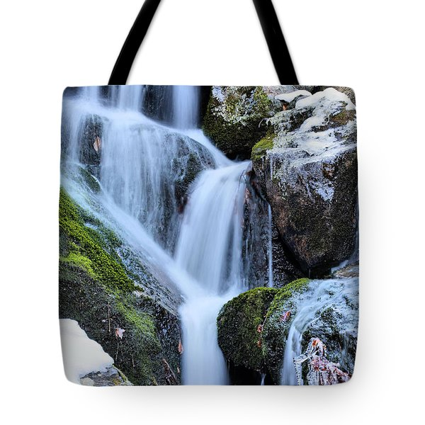 Icicles Tote Bag by JC Findley
