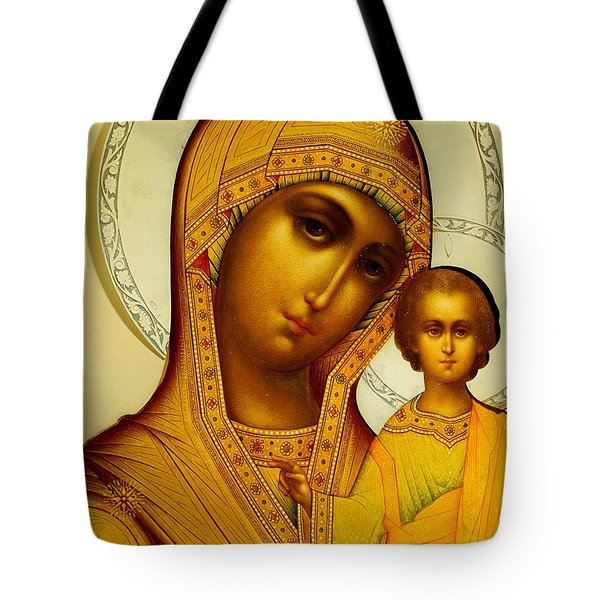 Icon Of The Virgin Kazanskaya Tote Bag by Dmitrii Smirnov