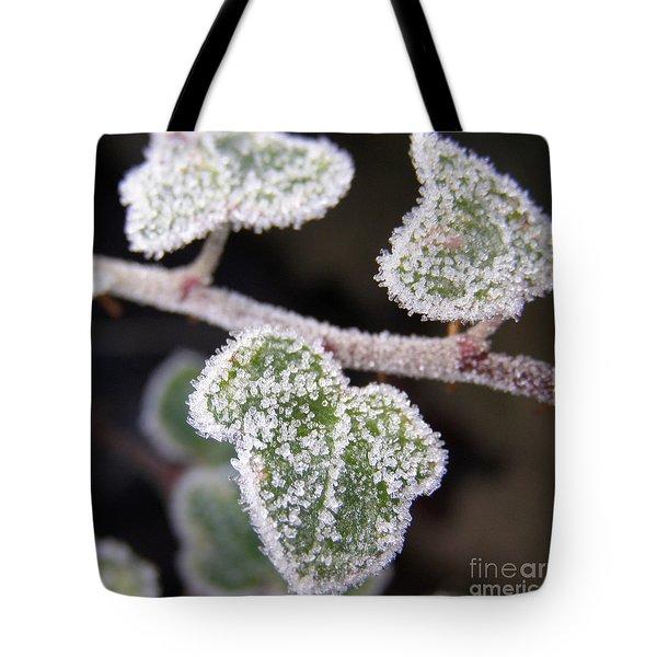 Icy Ivy Tote Bag by Terri Waters