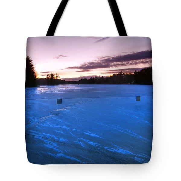 Icy Sunset Tote Bag by Joann Vitali