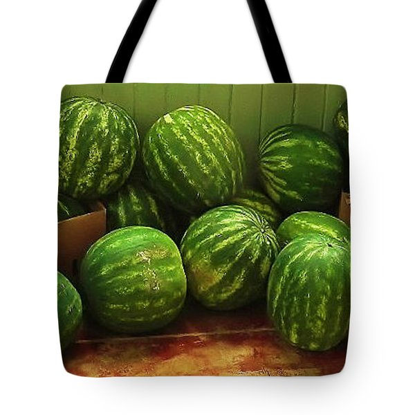 If I Had A Watermelon Tote Bag by Patricia Greer