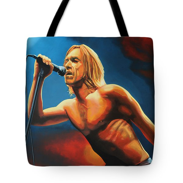 Iggy Pop Tote Bag by Paul  Meijering