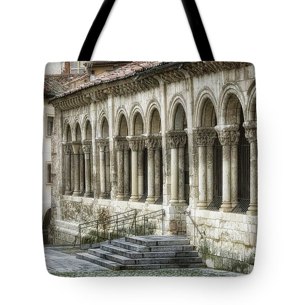 Iglesia De San Millan Tote Bag by Joan Carroll