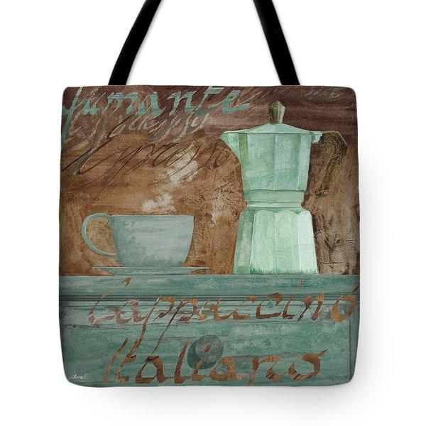 Il Cappuccino E La Moka Tote Bag by Guido Borelli