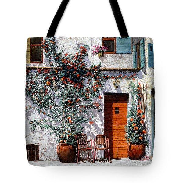 il cortile bianco Tote Bag by Guido Borelli