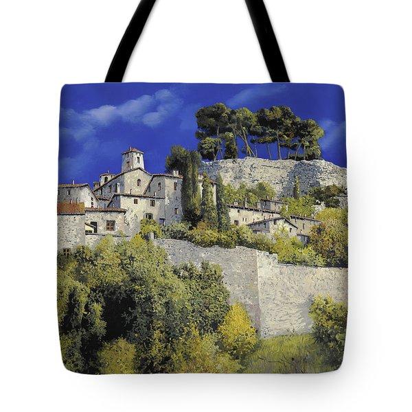 Il Villaggio In Blu Tote Bag by Guido Borelli