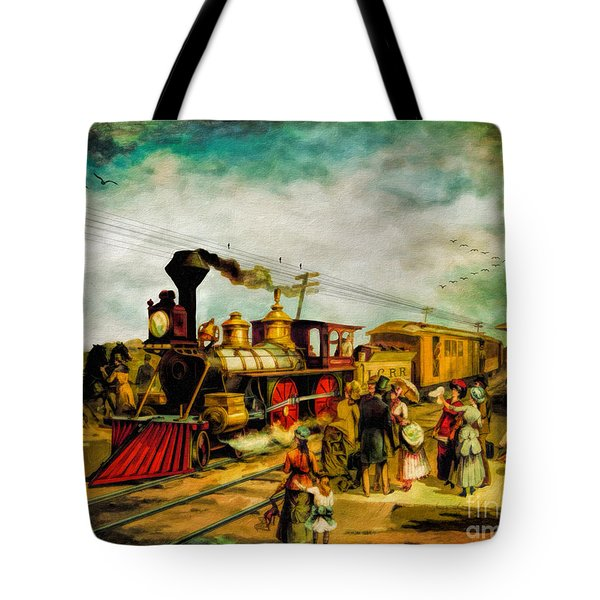 Illinois Central Railroad 1882 Tote Bag by Lianne Schneider