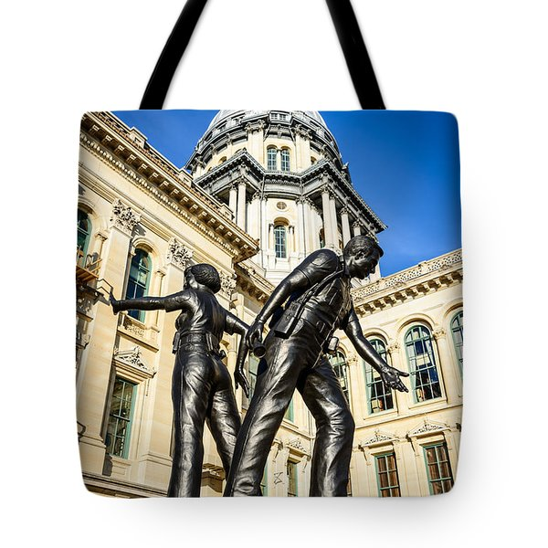 Illinois Police Officers Memorial in Springfield Tote Bag by Paul Velgos