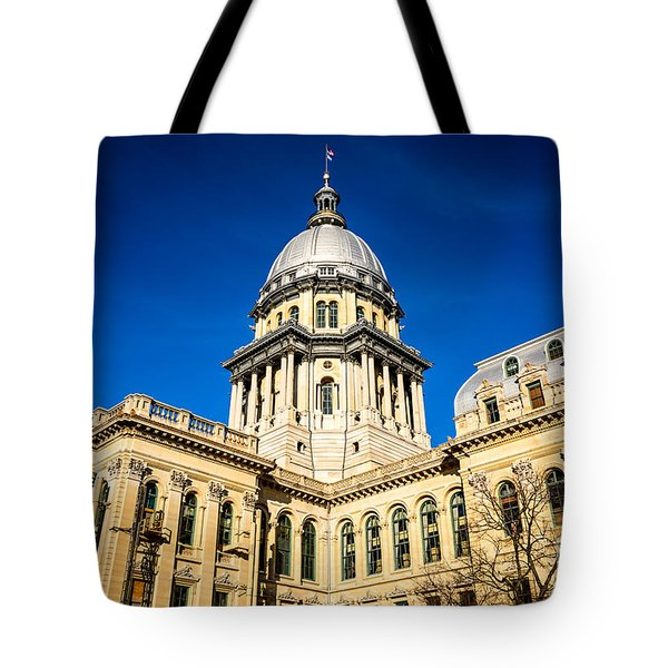 Illinois State Capitol Building In Springfield Tote Bag by Paul Velgos